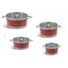Kép 1/3 - Bachmayer  6 részes piros pöttyös nemes acél edénykészlet BH 4003