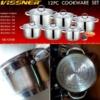 Kép 2/2 - 12 db-os nemes acél edénykészlet Vissner VS12100