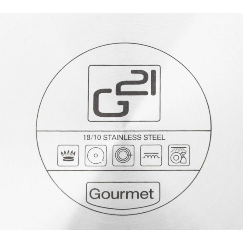 G21 Gourmet Magic edénykészlet szűrővel, 9 részes, rozsdamentes acél