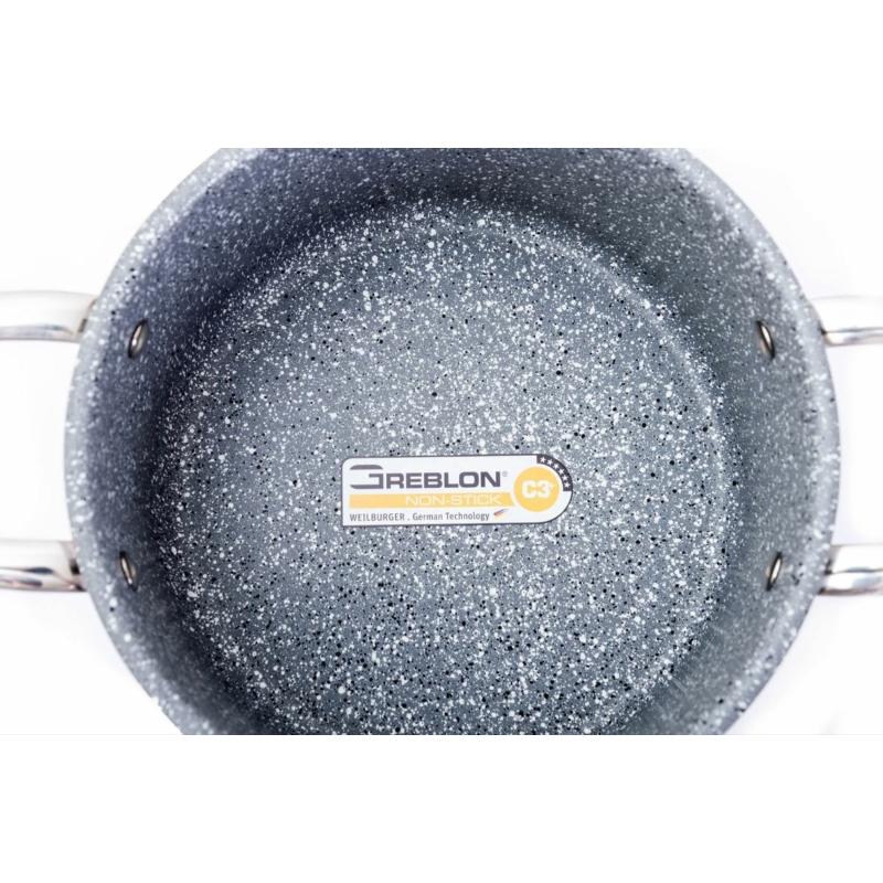 G21 Gourmet Miracle edénykészlet szűrővel, 9 részes, rozsdamentes acél / greblon