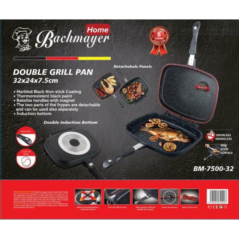 Bachmayer  dupla grill serpenyő,BM 7500 -32