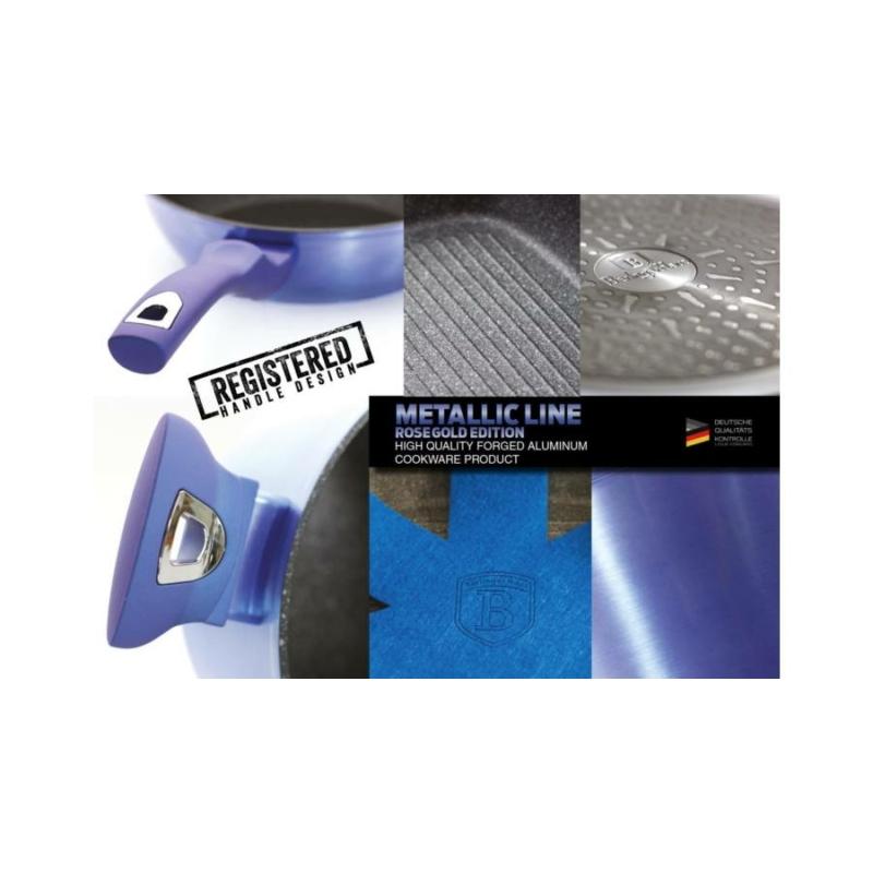 Berlinger Haus 10 részes edénykészlet márvány bevonattal, metál kék külső bevonattal BH/1658N